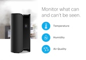 Canary Pro security camera with a siren and temperature, humidity, and air quality sensors.