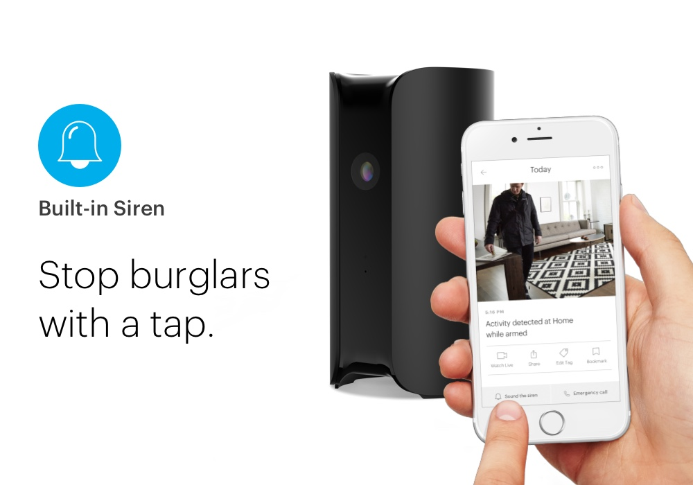 Pro (All-in-one) security with HD camera, siren, and air