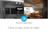 Canary View with automatic night vision and Clear as day, even at night.